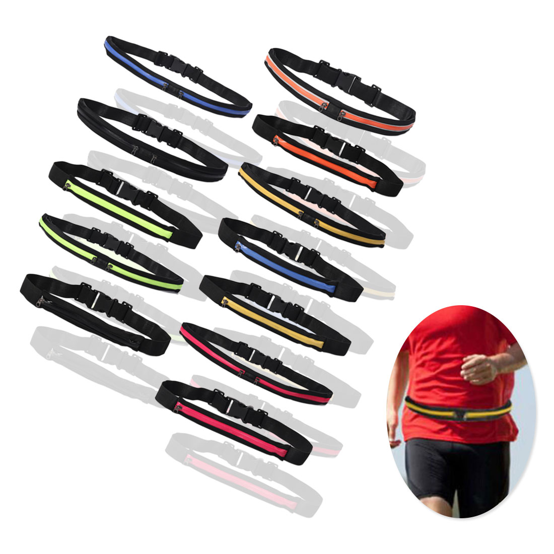 Sports Bag Waist Bag Pouch Running Sports Pockets Invisible Personal Phone Single Bag Double Bag Activities To Send Gifts