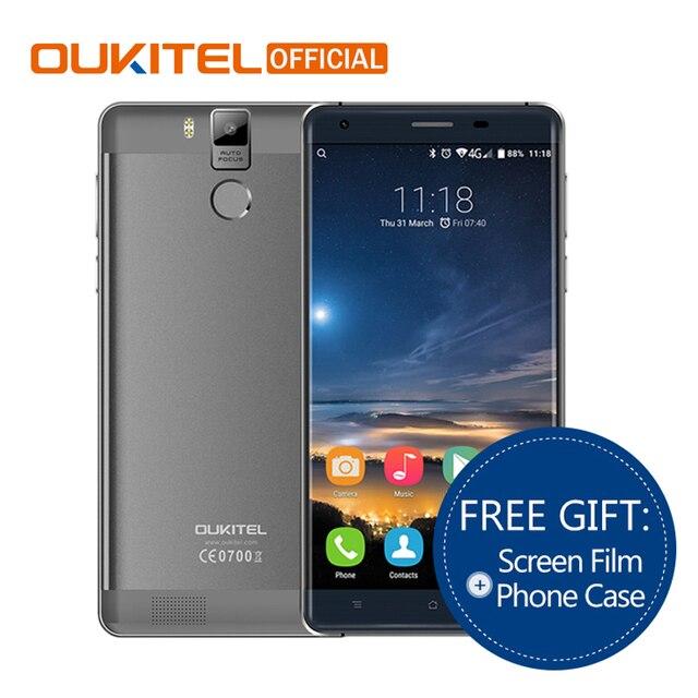 "Oukitel K6000 Pro 5.5"" 6000mAh Octa Core Cellphone MTK6753 Smartphone FHD Screen 3G RAM 32G ROM 4G LTE Mobile Phone"