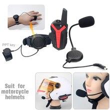 2 pz X3 PIÙ IL gruppo di conversazione fino a 3 km impermeabile moto casco bluetooth headset citofono con il controllo PTT