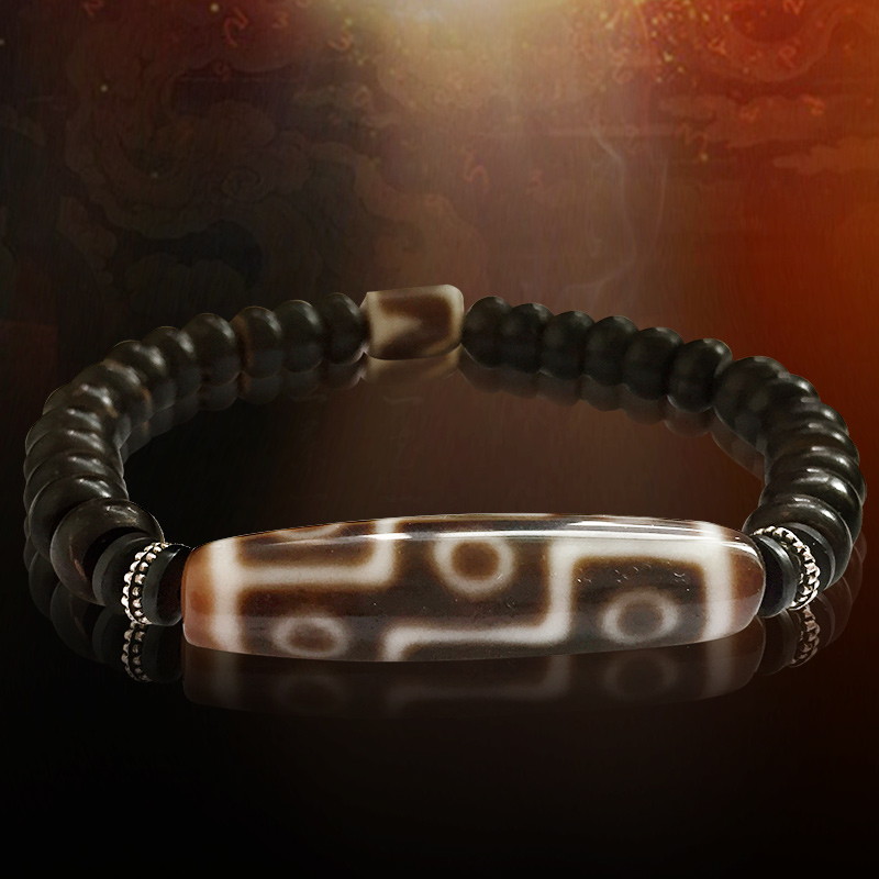 Tiban Dzi Beads Natural Nine Eyes Beads Bracelet With Coconut Shell Great Quality Free Shipping
