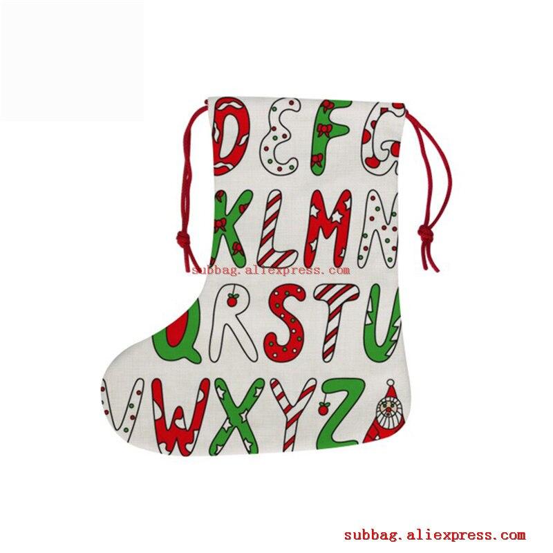 New Sublimation Blank Linen Christmas Drawstring Bag Hot Transfer Printing Blank Diy Consumables 18*38CM 5pieces/lot
