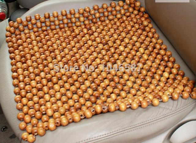 Wood Bead Car Seat Cushion Wooden Beads Chair Art Massage