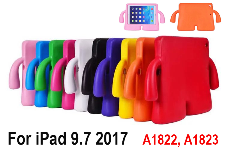 Tablets Protective Case cover For iPad 9.7 2017 A1822 A1823 children kids Cartoon EVA Foam Shockproof washable Soft stand case shockproof kids children save protective