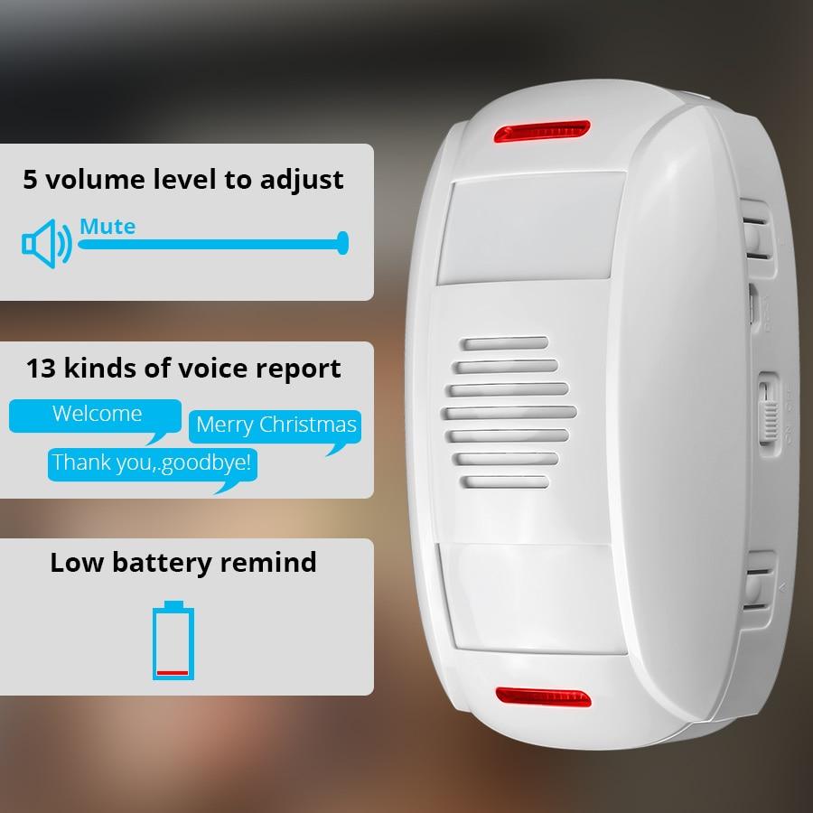 KERUI Shop Store Home Security Welcome Chime Doorbell Wireless Double Passive Motion Detection Doorbell Linkage Burglar Alarm
