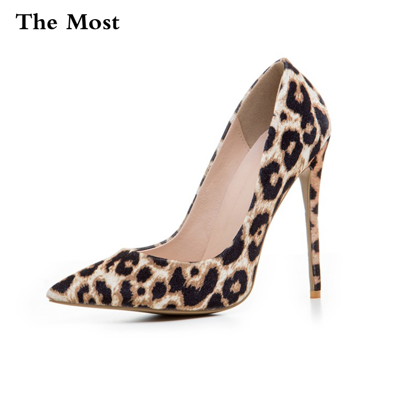 THEMOST Brand Women Pumps High Heels Sexy Plus Size 34-47 Spring Bride Pointed Toe High Heels Shoes Sexy leopard  Women's shoes new 2017 spring summer women shoes pointed toe high quality brand fashion womens flats ladies plus size 41 sweet flock t179