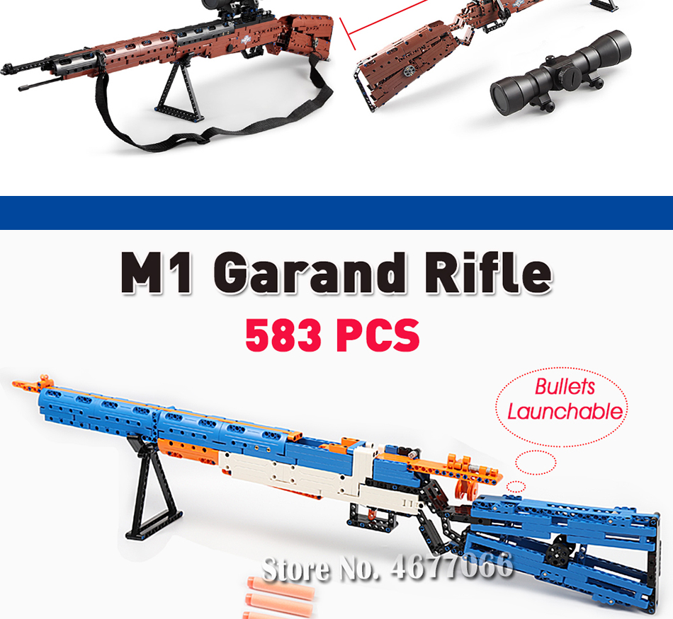 cada building blocks technic gun toy models & building toy gun model 98k bricks educational toys for children ww2 toys for kids 5