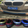 2.5 Metros de LA PU de la Fibra de Carbono Frente Del Coche Bompereta Boky Kit de Coche Tira de parachoques para BMW E90 E92 F30 M3 M4 Z4 F06 F82 Universal
