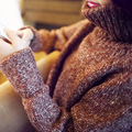 Nueva Llegada de Las Mujeres del Otoño Suéter de Invierno 2017 Europa Moda Mujer Suéter Casual de Manga Larga Jersey de Cuello Alto Femenino C653