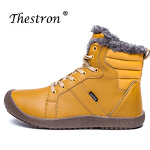 Winter Warm Boots for Couples Large Size 36-48 Snow Boots Men Black Dark Blue Casual Shoes High Top Anti-slip Outdoor Boot Lover flamingo winter wool keep warm shoes anti slip children orthotic arch high quality size 28 33 snow boots for girl 82d nq 1035