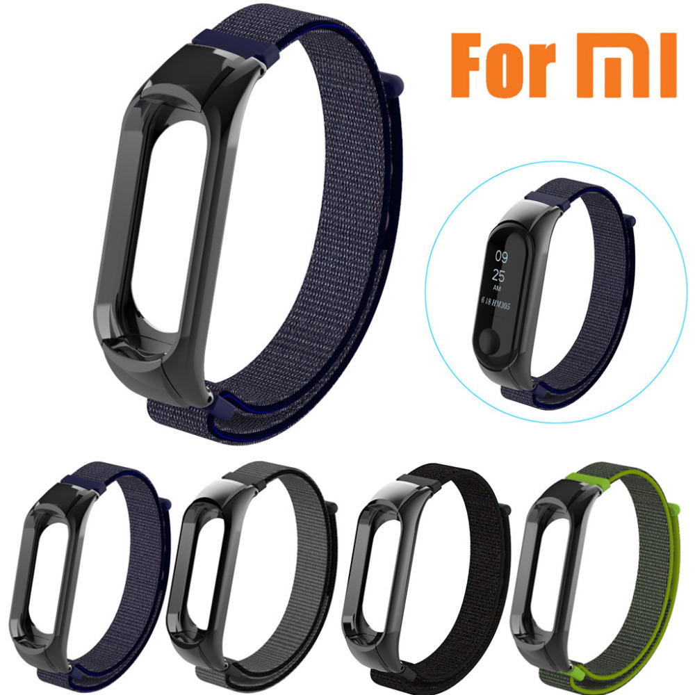 New Fashion Lightweight Nylon Adjustable Replacement Band Solf Sport Strap For XIAOMI MI Band 3 Bracelet Accessories 10Jul 24 replacement original sports leather wristband band strap metal case cover for xiaomi mi band 3 bracelet accessories 10jul 13
