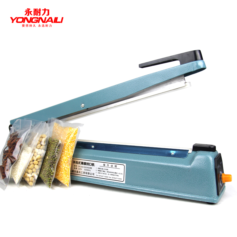 400 Hand Pressure Iron Sealing Machine Shell Plastic Bags Sealer Foil Bag Sealer fkr 400 manual plastic bag sealer