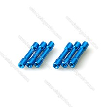 Free Shipping 100pcs/lot M3 Standoff 6.3x30mm Colored Aluminum Round Step Standoff/spacer for RC Helicopter