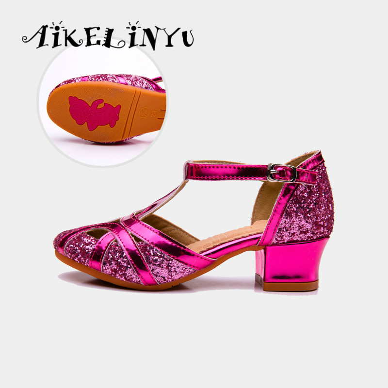 2019 Girl Fashion Latin Dance Shoes Kids Sequins Hollow Sandals High-quality Children Shoes Girl Wedding High Heels Shoes Kids2019 Girl Fashion Latin Dance Shoes Kids Sequins Hollow Sandals High-quality Children Shoes Girl Wedding High Heels Shoes Kids