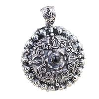 925 Sterling Zilver Drijvende Charm Mantra Medaillon Hanger Vintage Retro Lotus Carving Shurangama Gebedsdoos Amuletten En Talismannen