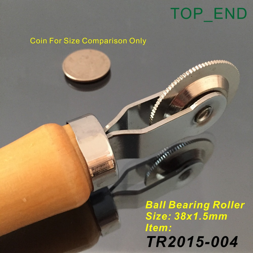 38x1.5mm Ball Bearing Roller,Wooden Handle Stitcher,Professional Tire Repair Tools,A Tool For Garage,Tire Repair Service Shop