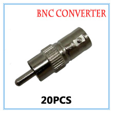 20pcs Gold BNC Female RCA Male Video Plug Coupler Connector to screw Video BNC Connector Adapter