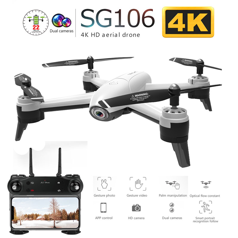 SG106 WiFi FPV RC Drone with Dual Camera 720P 1080P 4K Aerial Video Wide Angle Optical Flow RC Quadcopter Helicopter Kid Toy E58-in RC Helicopters from Toys & Hobbies    1