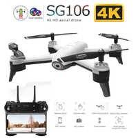 SG106 WiFi FPV RC Drone avec double caméra 720P 1080P 4K aérien vidéo grand Angle flux optique RC quadrirotor hélicoptère enfant jouet E58