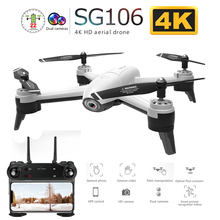 SG106 WiFi FPV RC Drone with Dual Camera 720P 1080P 4K Aerial Video Wide Angle O