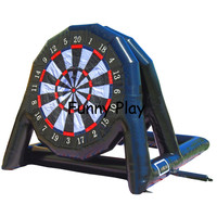 Double side airtight inflatable football darts sports game, inflatable soccer dart board sport game Outdoor advertising