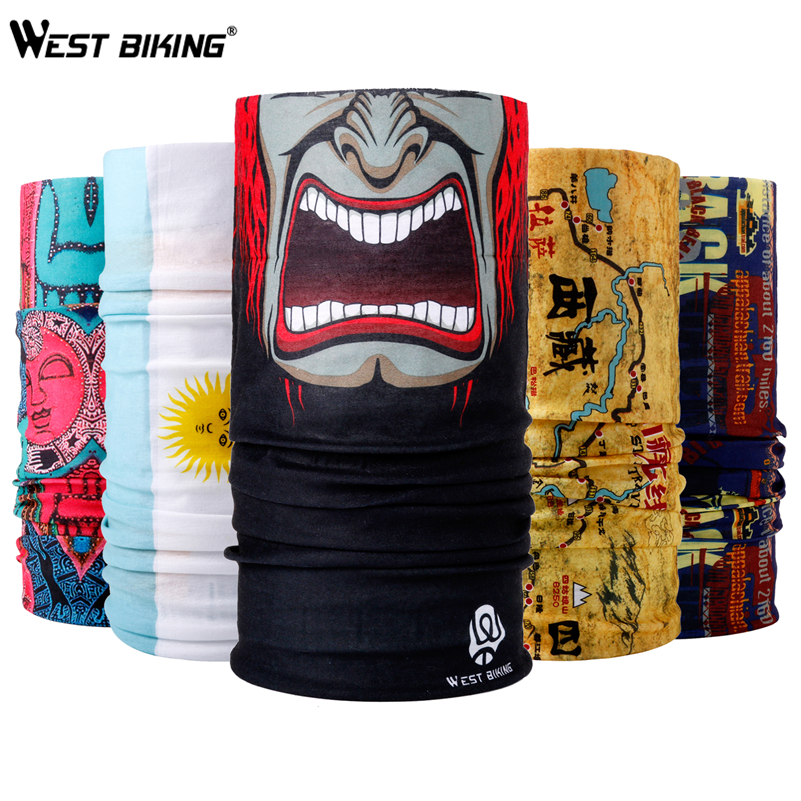 WEST BIKING Bicycle Magic Scarf Summer Breathable Windproof Bike Mask Cycling Riding Scarf Sport Headband Bandanas Cycling Scarf