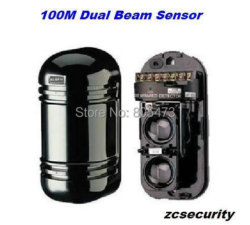 bilder für Freies Verschiffen CE 100 Mt Strahl Sensor Alarm Wireless Dual Strahl Photoelektrischer Infrarotdetektor Ir Barrier
