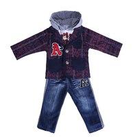 Pettigirl Autumn 3PCS Boys Clothing Set Letter Printed Coat+T shirt + Jeans Casual Children Clothing CS30202 17