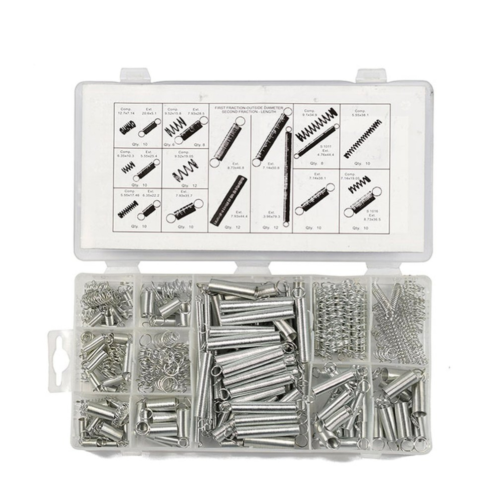 200PCS/SET Professional Stainless Steel Spring Assortment Set Zinc Plated Steel Compression Carburetor Extension200PCS/SET Professional Stainless Steel Spring Assortment Set Zinc Plated Steel Compression Carburetor Extension
