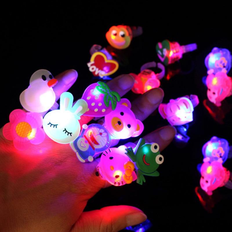 Humor Itimo Novelty Led Light Up Flashing Eyeball Pumpkin Skeleton Soft Jelly Finger Ring Glow Light Halloween Party Toy Gift Lights & Lighting
