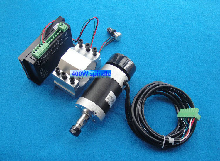 ER11 48V 400W brushless high-speed air-cooled spindle motor engraving machine spindle kit