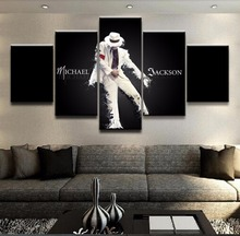 Artwork 5 Panel Canvas Printed  Michael Jackson Poster Painting Modern Decorative Home Decor Wall Art Modular Pictures Framed