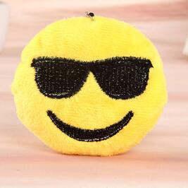 US $0 68 38% OFF|1 Pcs Emoji Smiley Emoticon Stuffed & Plush Toys Cute Soft  Yellow Round Whatsapp Emoji Plush Toy Small Pendant-in Movies & TV from