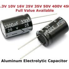 5 шт алюминиевый электролитический конденсатор с алюминиевой крышкой, 6,3 V 1000 мкФ 10V 1500 мкФ 16V 2200 мкФ, алюминиевая крышка, 25В 3300 мкФ 35В с алюминиевой крышкой, 50В 400V 4700 мкФ 680 мкФ 35 в 1 мкФ 2,2 мкФ 3,3 мкФ