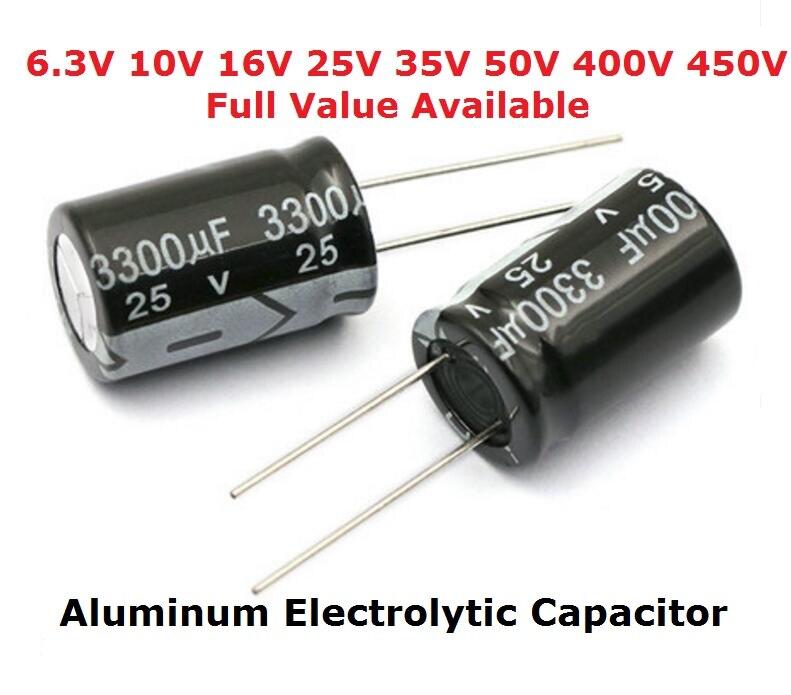 1PCS 220uF 450V 220MFD 450Volt Electrolytic Capacitor 25mm×40mm Radial