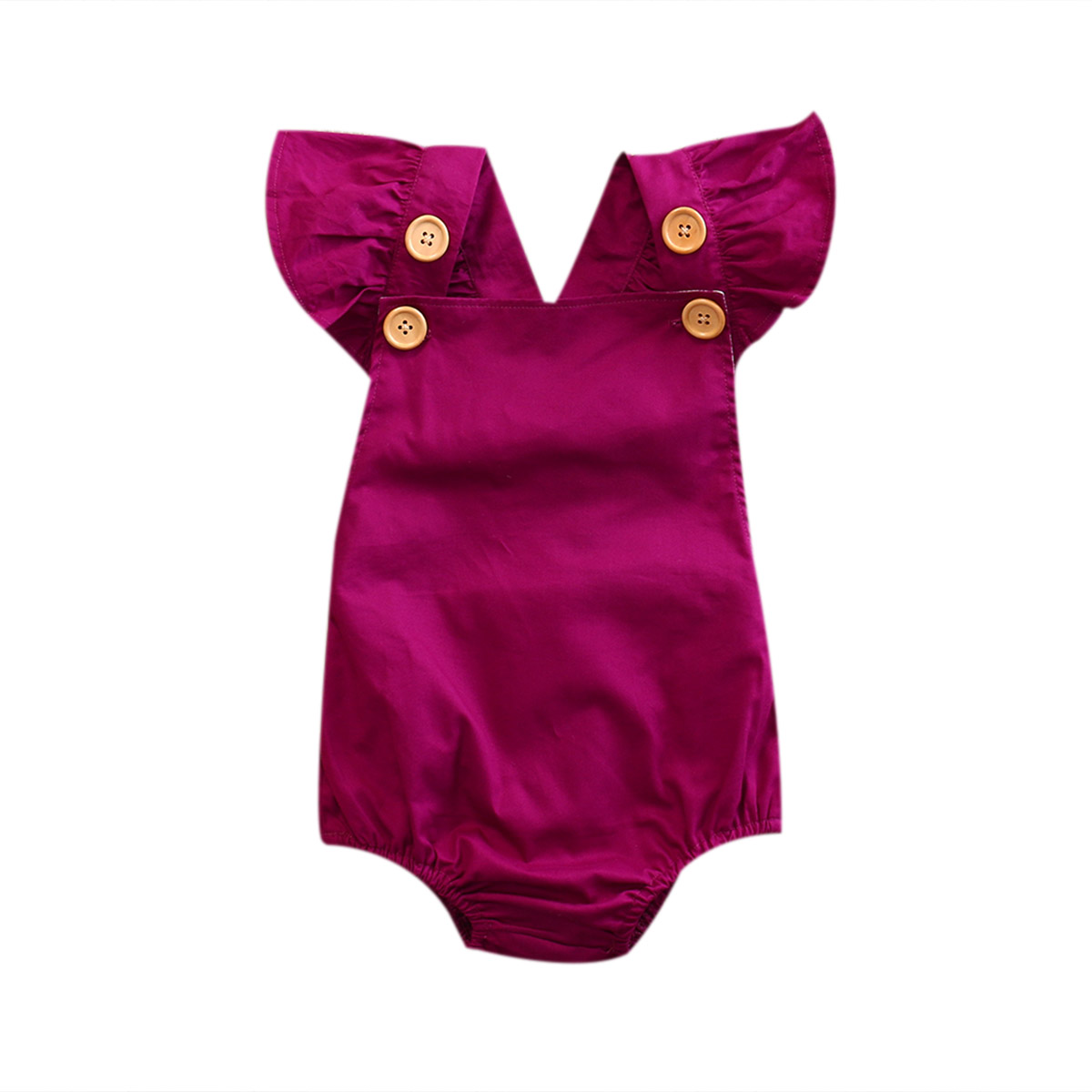 Pudcoco Cotton Infant Baby Girl Backless   Romper   Jumpsuit Sunsuit Sleeveless One-Pieces Outfits Clothes
