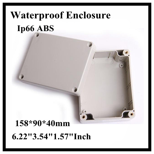 Abs Ip66 Waterproof Enclosure Electronic Plastic Box 158*90*40mm 6.223.541.57Inch Junction Distribution Switch Outdoor Box 175 175 100mm ip67 abs electronic enclosure box distribution control network cabinet switch junction outlet case 175x175x100mm