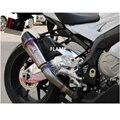 Novo titanium tubo de chama silenciador para bmw s1000rr 2015 2016 tubo tubo silenciador tubo de escape para bmw s1000rr