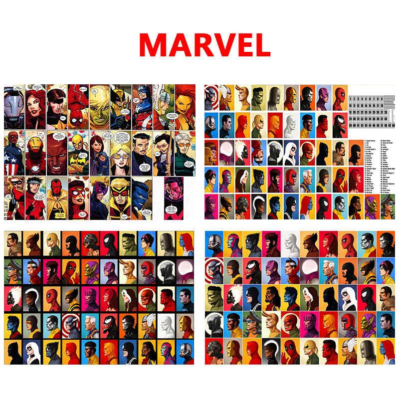 Marvel Character DC Comics Superheros Art Modern Print Poster Decorative Painting Wall Pictures For Living Room Bar Home Decor