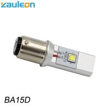Zauleon 1 шт. 1157 BA15D светодиодный мотоцикл фар лампы DC 6 В 12 В 930LM мотоцикл фара отрицательная земля самокат светодиодный лампы