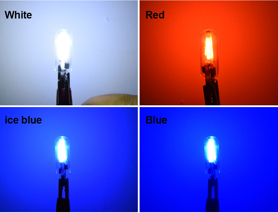 Foxcncar led W5W led T10 cob glass car light Led filament auto automobiles reading dome bulb lamp DRL car styling 12v  (4)