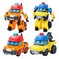 2Pcs Anime Poli Robot Toy Korea Poli Bucky Mark Deformation Toys Action Figures Kids Children Car Bus Toys Gifts