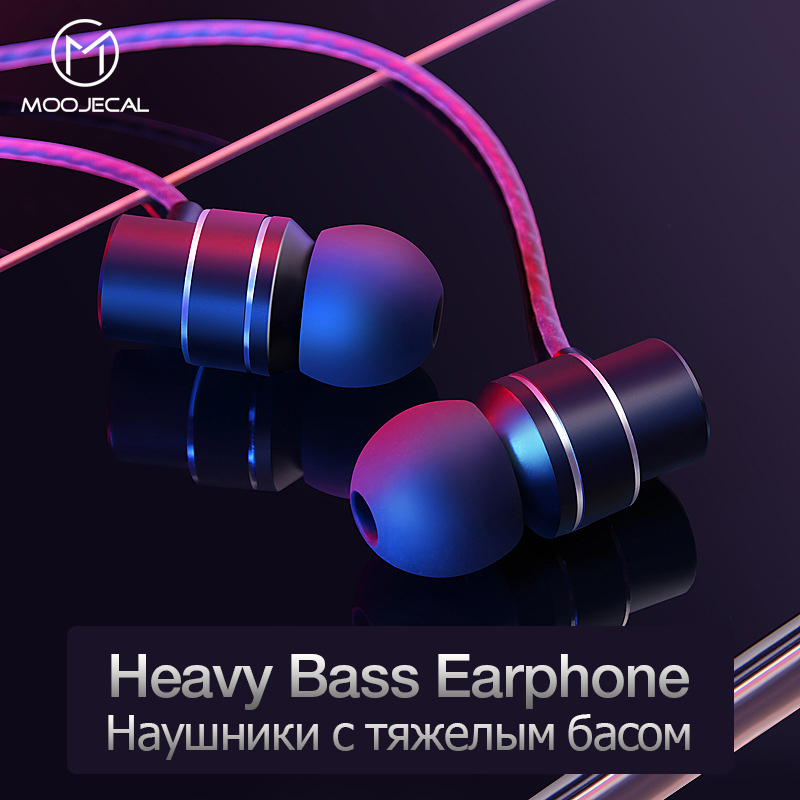 MOOJECAL Sport Earphone Wired Super Bass 3.5mm Stereo music Earphones Earbud with mic <font><b>Hands</b></font> <font><b>Free</b></font> headset for iPhone Xiaomi MP3 image