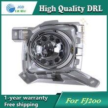 Бесплатная доставка! 12 В 6000 К СИД DRL дневного света для Toyota LAND CRUISER FJ200 противотуманная фара рамка Противотуманная Фара стайлинга автомобилей