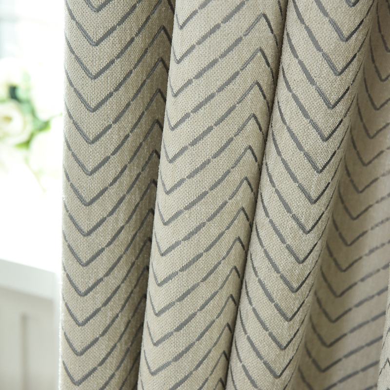 Aliexpress Com Buy High Quality Thick Flocked Modern: Custom Curtains High Quality Nordic Simple Modern Striped