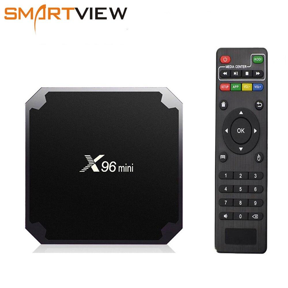 X96 mini Android 7,1 caja de TV inteligente 2 GB/16 GB TVBOX X 96 mini Amlogic S905W H.265 4 K 2,4 GHz WiFi Media Player Set Top Box X96mini