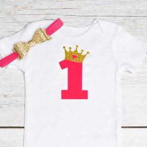 Детское девичье платье для дня рождения, платье принцессы для маленьких девочек 12-24 месяцев, одежда для дня рождения и От 1 до 2 лет, комплект из 3 предметов, платье для новорожденных