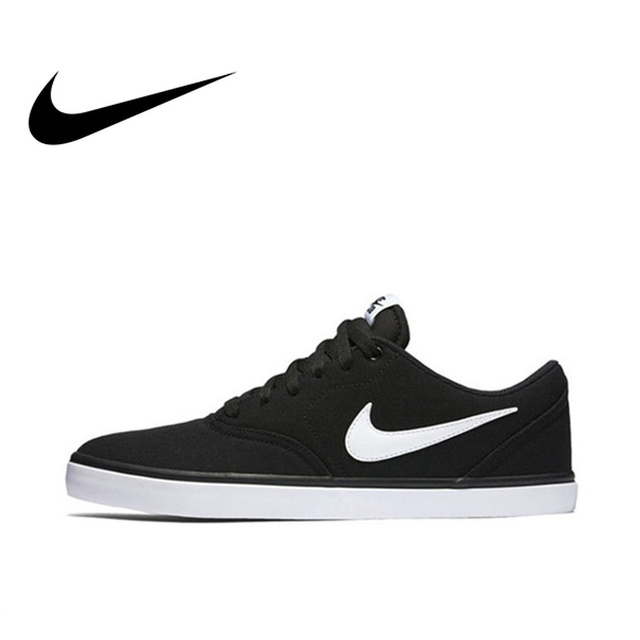 wholesale dealer 5d0ac 29690 Original Authentic Nike SB CHECK SOLAR CNVS Aqua Mostro Men Skateboarding  Shoes Comfortable Breathable Light Weight Flat 843896