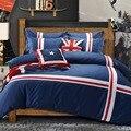 Британский Стильный домашний текстиль  100% хлопок  4 шт.  комплекты постельного белья