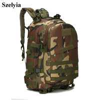 Szelyia Airsoft Molle Bag Pouch Fast Army Tactical Military Equipment Trave Outdoor Climbing Hiking Bag Backpack Waterproof 40L