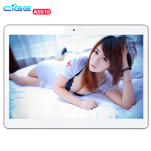 CIGE A5510 4G Lte Call Phone Tablet PC 10.1 inch 1280*800 IPS Android 7 MTK MT6592 Octa Core 4GB Ram 64GB Rom Tablets PCs